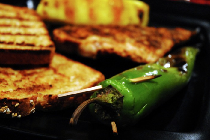 Grilled Anaheim Peppers
